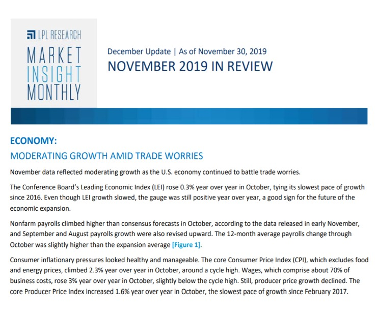 Market Insight Monthly | November 2019